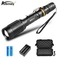 Ultra Bright LED flashlight T6/L2 Led flashlight torch 5 modes waterproof Zoomable torch Used for camping, adventure, hunting