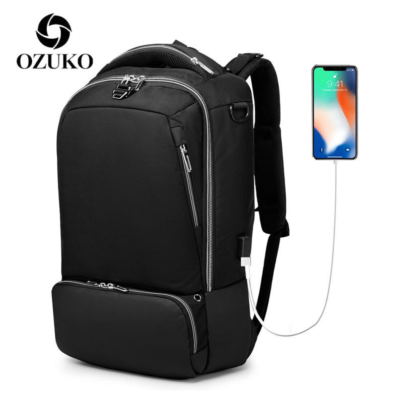 OZUKO Backpack Men 15.6 Inch Laptop Backpack Waterproof Multifunction Outdoor travel USB Backpack mochila hombre цена