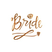 Gold Team Bride Temporary Tattoo Stickers