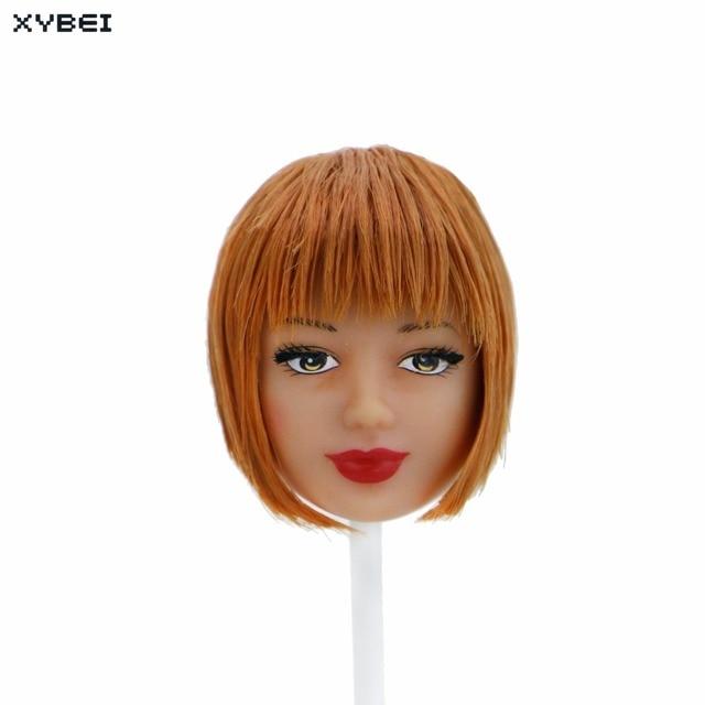 Us 2 98 Handgemachte Bob Haar Puppe Kopf Orange Kurzen Stumpfen Pony Rot Lippen Coole Frisur Fur 12 1 6 Puppe Puppenhaus Kinder Zubehor Geschenke