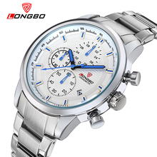 LONGBO Luxury Men Brand Full Steel Watches Top Quartz Male Super Luminesecnt Watch Sports Waterproof Business