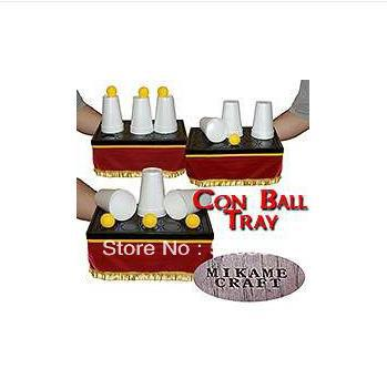 Con Ball Tray-Trick,mentalism,stage magic props, illusions,close-up,comedy sponge ball disappear magic trick tutorial
