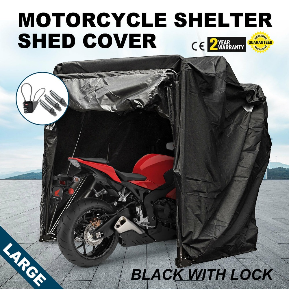 Large Bike Motorcycle Tent Garage Shelter Cover Dust Polyurethane Coating Garage