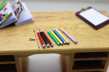 Neue 1:12 puppenhaus miniatur 8 stück Mini bunte bleistifte lernen werkzeuge spielzeug sammler Geschenk