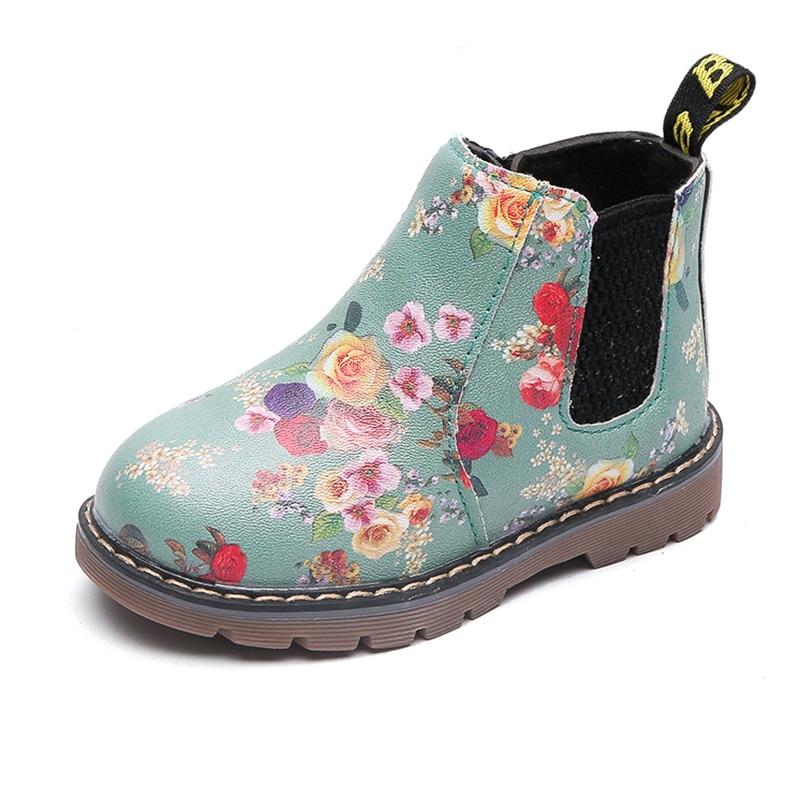 COZULMA Jungen Mädchen Stiefel Winter Frühling Jungen Mädchen Martin Stiefel Pelz Plüsch Kinder Lederstiefel Kinder Schuhe Baby Jungen Mädchen Schuhe