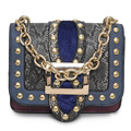 Women Shoulder Bags Luxury Handbags Women Bags Designer Serpentine PU Leather Handbags 2017 Vintage Lock Rivet Chain Handle Flap