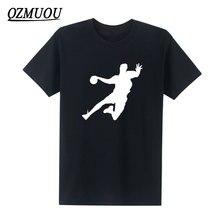 New Fashion Novelty Handball T Shirts Men Tops Tees 100% Cotton Mens Designs Creative Skateboard T-shirt High Quality Plus Size