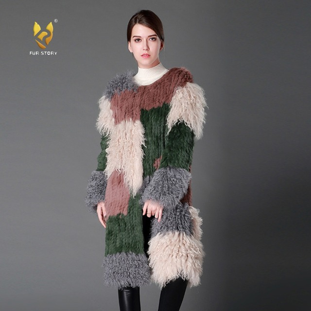 Aliexpress.com : Buy Fur Story 161199 Natural Lamb Fur Coat for ...