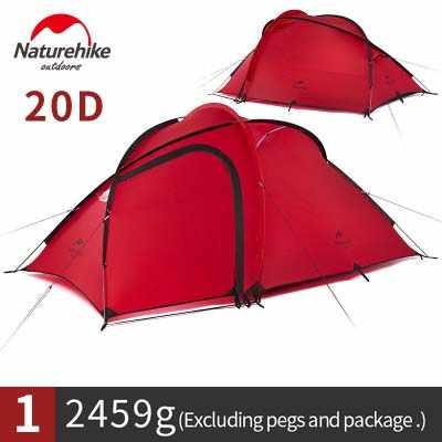 Nature randonnée Hiby tente familiale 20D tissu Silicone imperméable Double couche 2 personnes 3 saisons camping tente une chambre un hall