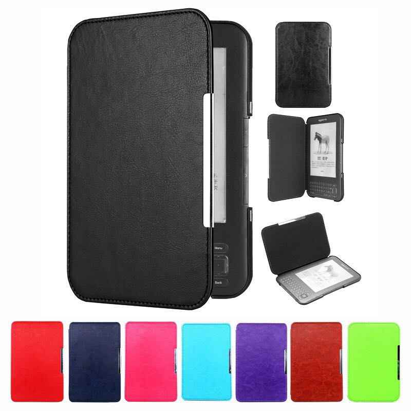 Ultra Slim Smart Magnetische Leather Case Cover Voor Amazon Kindle 3 3rd generatie e-book reader toetsenbord scherm Kindle 3 Case