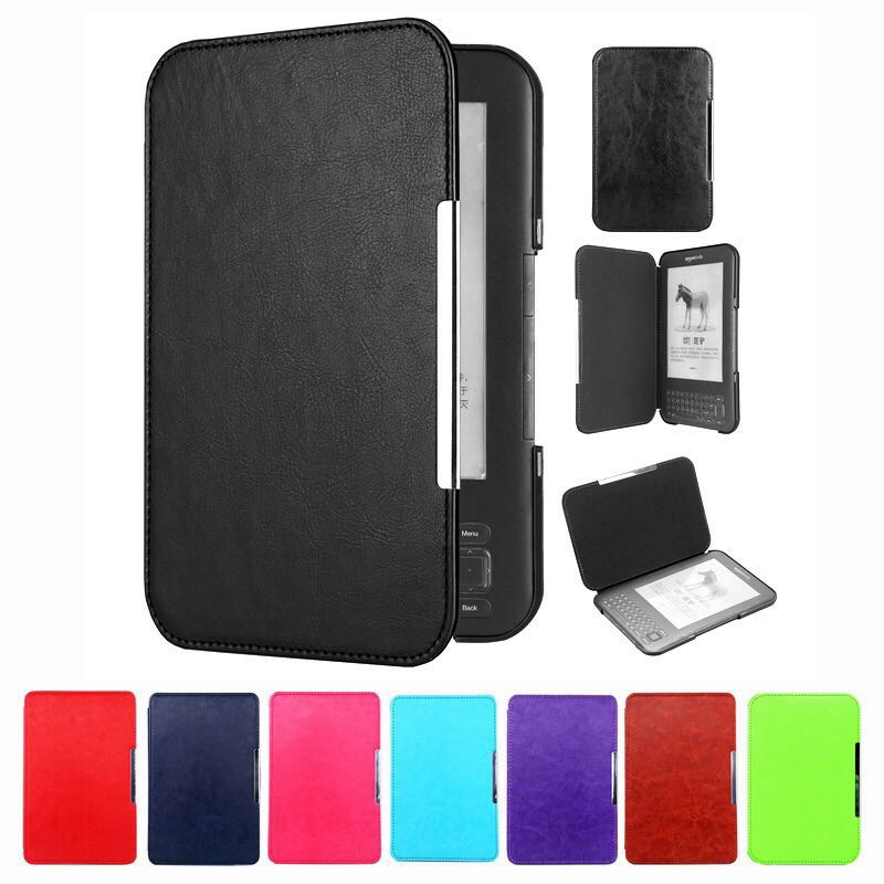 Ultra Slim Smart Magnetic Leather Case Cover For Amazon Kindle 3 3rd Generation E-book Reader Keyboard Screen Kindle 3 Case
