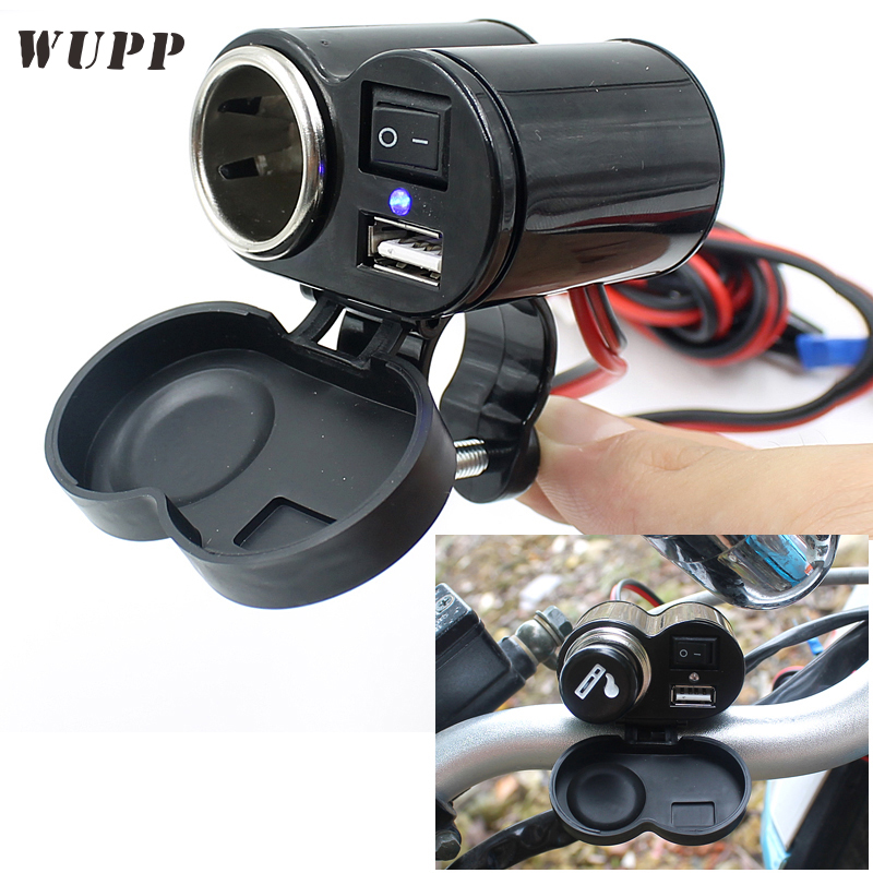 WUPP With Switch Waterproof 5V 1.5A USB Charger Cigarette Lighter Socket Mobile Phone GP ...