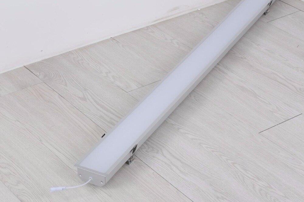 Shiping libre led encastré lumière linéaire, linéaire led luminaire, linéaire led lampe avec clips de montage