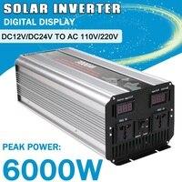 1 шт. 3000 Вт Max Чистая синусоида солнечный Мощность инвертор DC 12 В/24 В к AC 110 в/220 В от сетки инвертор солнечной энергии дома автомобиля Системы