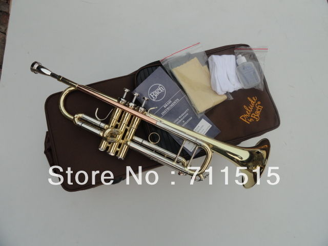 Bb flat Trumpet Bach TR-600 Brass Small Trompeta Brass Instruments Cupronickel in Section Mouthpiece Gloves Musical Instrument