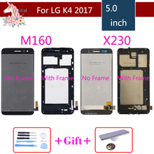 For LG K4 2017 LCD M160 M150 lcd complete K4 2017 X230 X230DSF original LCD Display Touch Screen Digitizer Assembly with Frame
