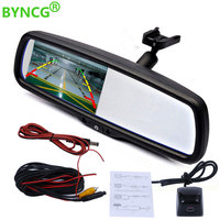 4.3 TFT LCD Car Parking Rearview Mirror Monitor With Special Bracket for Mitsubishi Lancer /Outlander 2008 Pajero /Lancer ex