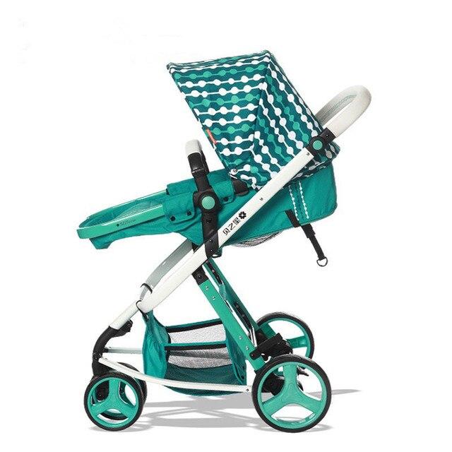 Four Wheels Stroller Stroller sitting folded high child baby tricycle luxury trolley Baby Stroller