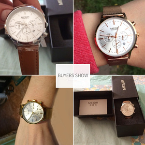 Image 4 - MEGIR Chronograph Luxury Women Bracelet Watches Relogio Feminino Fashion Quartz Lovers Wrist Watch Clock Ladies Girls Gift 2011