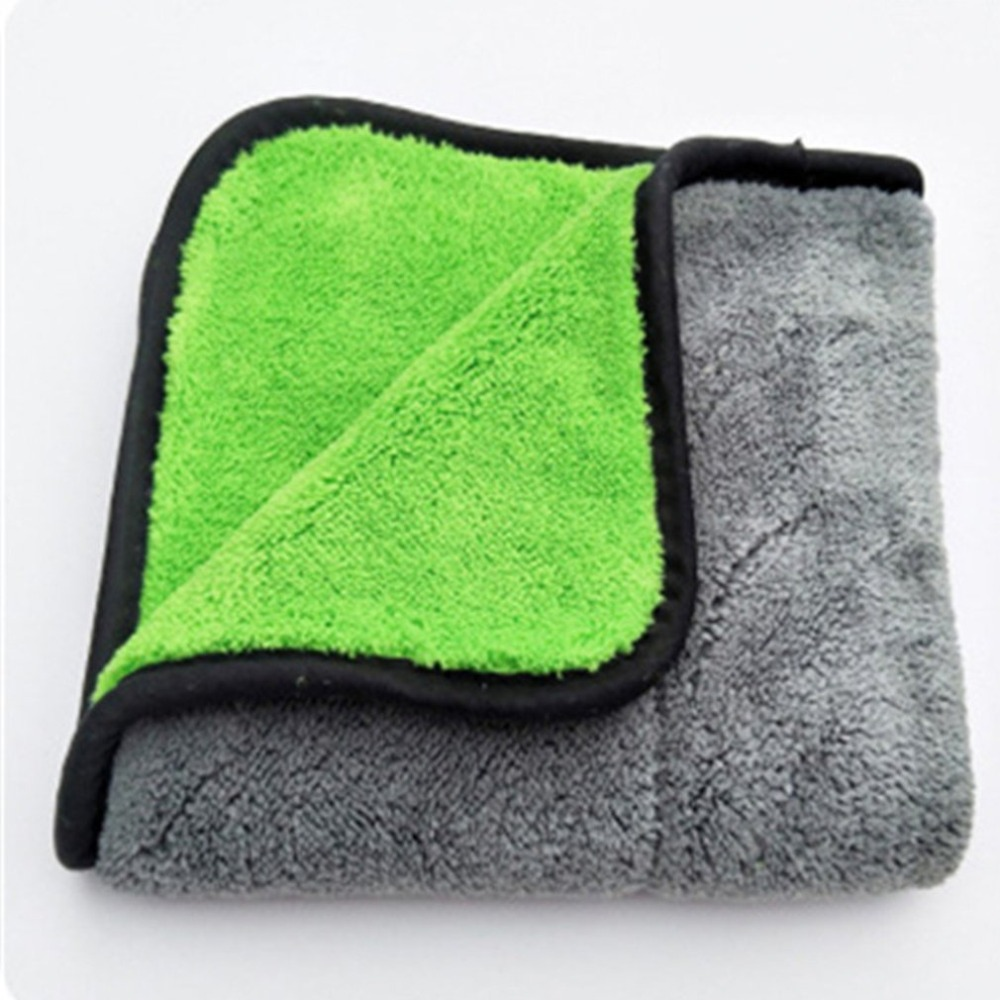 Thickening Double Side Coral Velvet Super Absorbent Car Wash Towel Car Drying Cloth Car Care Cloth Car Wash Towel