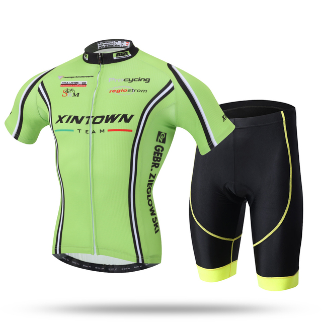 Fluorescent Green 2016 Cycling Jersey and Shorts Kit Short Sleeve Cycling  Set MTB Downhill Roupa Ciclismo 59bba9150