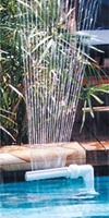 Pool Waterfall Fountain for Above Ground and In Ground Swimming Pools