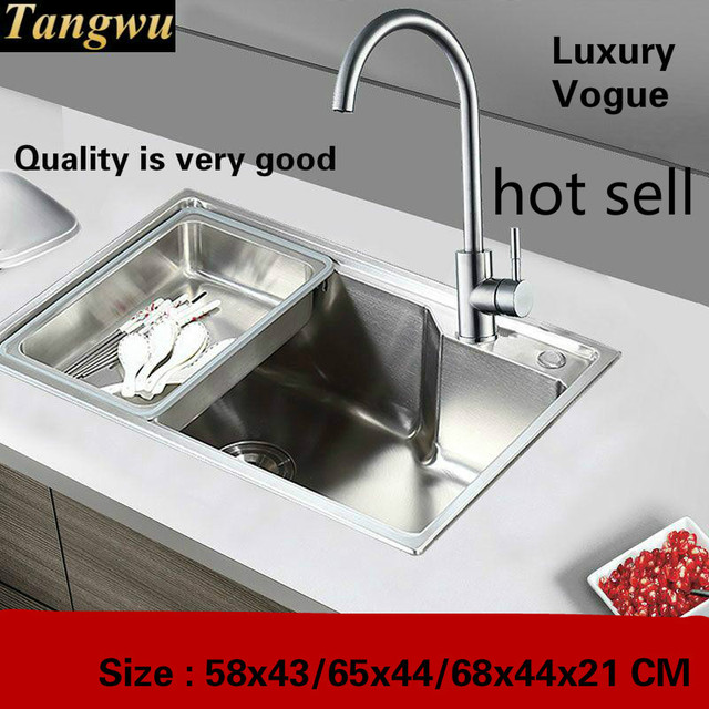 small kitchen sinks knife sharpening tangwu sink of high quality stainless steel single slot 580x430 650x440 680x440x210