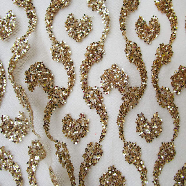 placeholder 360 145cm vintage india fashion gold glitter sequin net fabric  shining wedding dress african lace 537e550f3106
