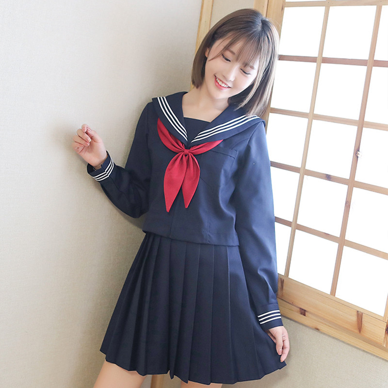 UPHYD Japanese Anime Cosplay Costume JK Student Uniform Fashion School Class Navy Sailor School Uniforms For Cosplay Girls Suits
