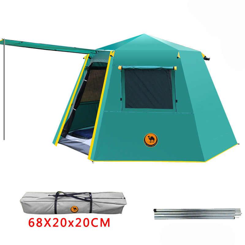 УФ шестиугольный алюминиевый полюс автоматический открытый кемпинг дикий большой тент 3-4 человек тент Сад беседка 245*245*165 см