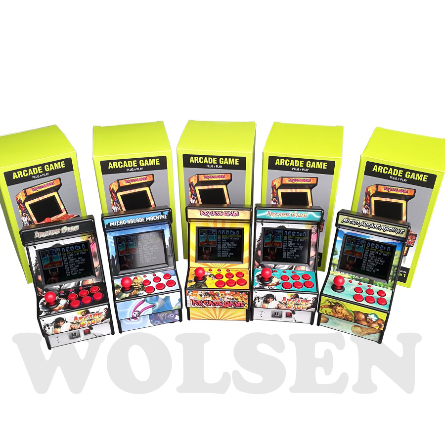 Wolsen 16 Bit mini Arcade games video portable retro game console arcade cabinet TV handheld game built in 156 games