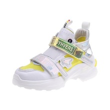 Laser old shoes women's colorful 2019 new wild shoes super f