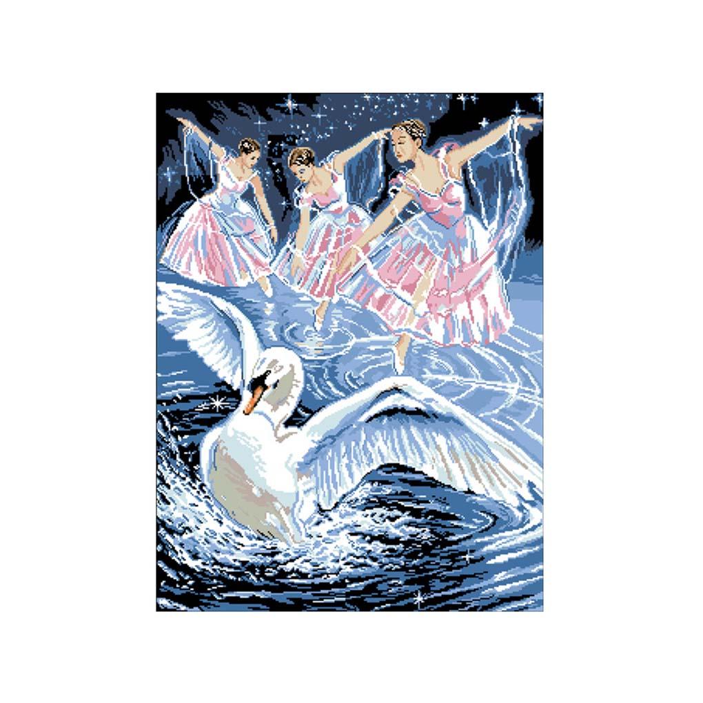 Diamond Painting White Swan Girl Rhinestone Needlework 5D Crystal Animal Painting Cross Stitch Decoration Mosaic Picture