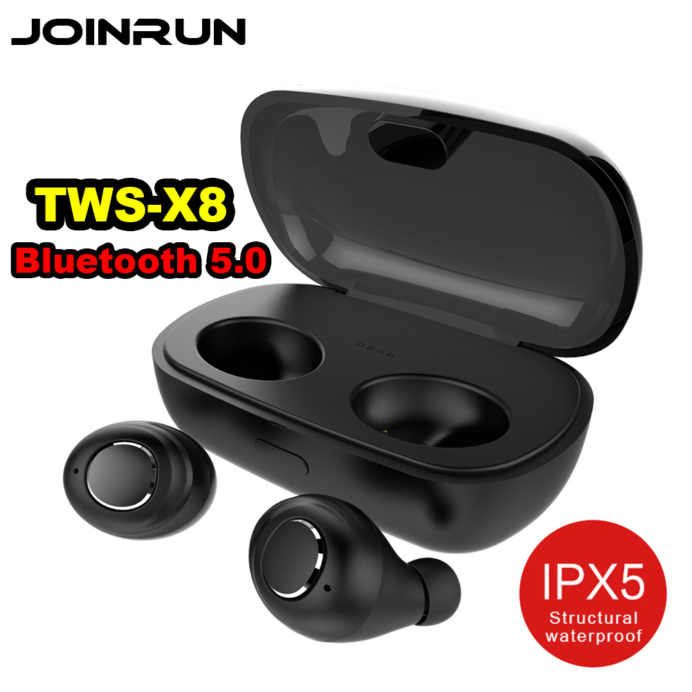 TWS X8 Bluetooth 5.0 In-Ear Wireless Mini Bluetooth Earphone Waterproof Sports Smart Connection Headset With Charging Box mini tws v5 0 bluetooth earphone port wireless earbuds stereo in ear bluetooth waterproof wireless ear buds headset yz209