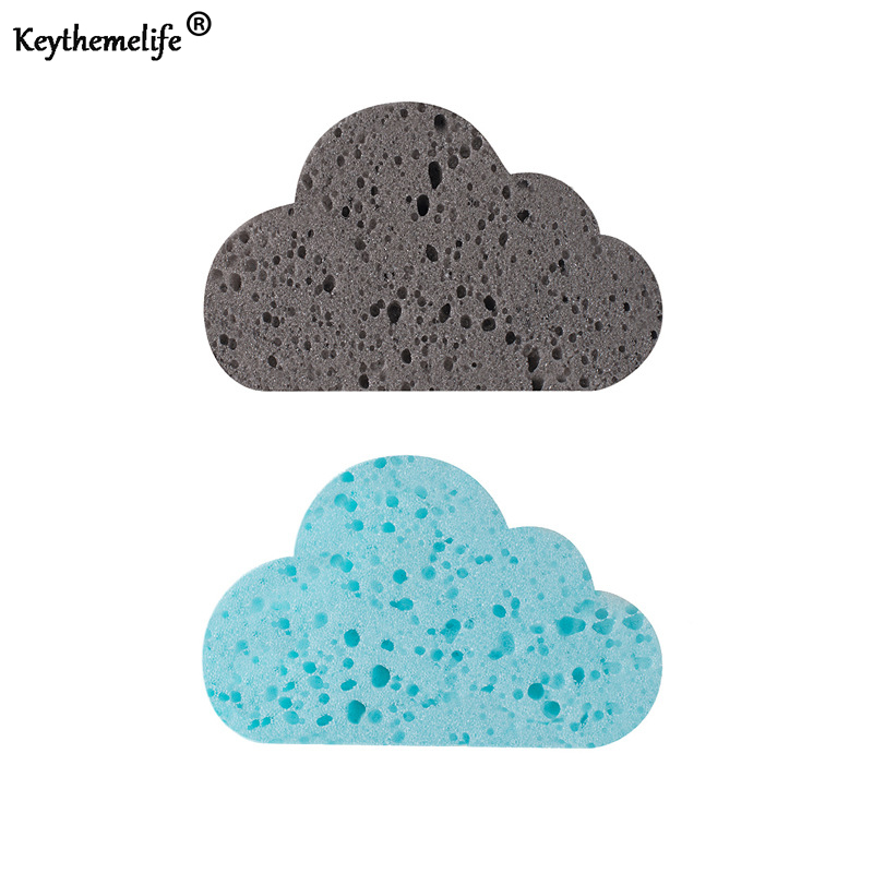 4pcs Kitchen Dishwashing Sponge Clouds shape Magic rub Cloth Strong  Detergency Cleaner Cleaning Tools B b35d932352838