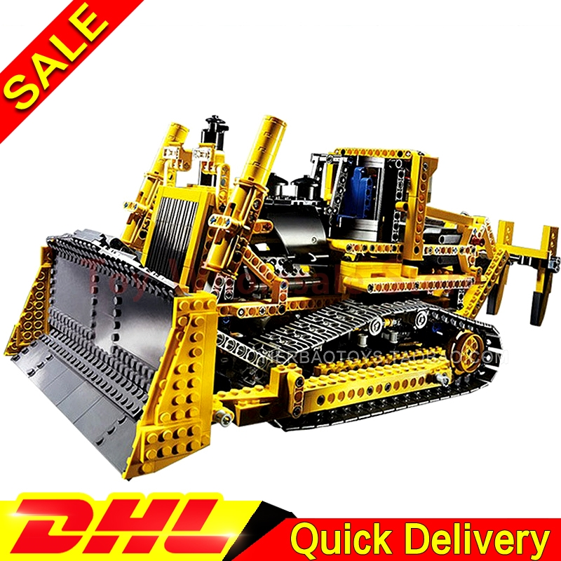 LEPIN 20008 technic series 1384pcs the bulldozer Model Building blocks Bricks kits boy brithday gifts lepins Toys Clone 8275 lepin 21003 series city car beetle model building blocks blue technic children lepins toys gift clone 10252