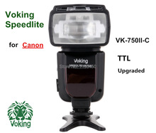 Voking TTL Speedlite Flash light VK750II-C for Canon 700D 650D 600D 550D 7D 6D 5D Mark ii iii T5i T4i T3i Digital SLR Cameras