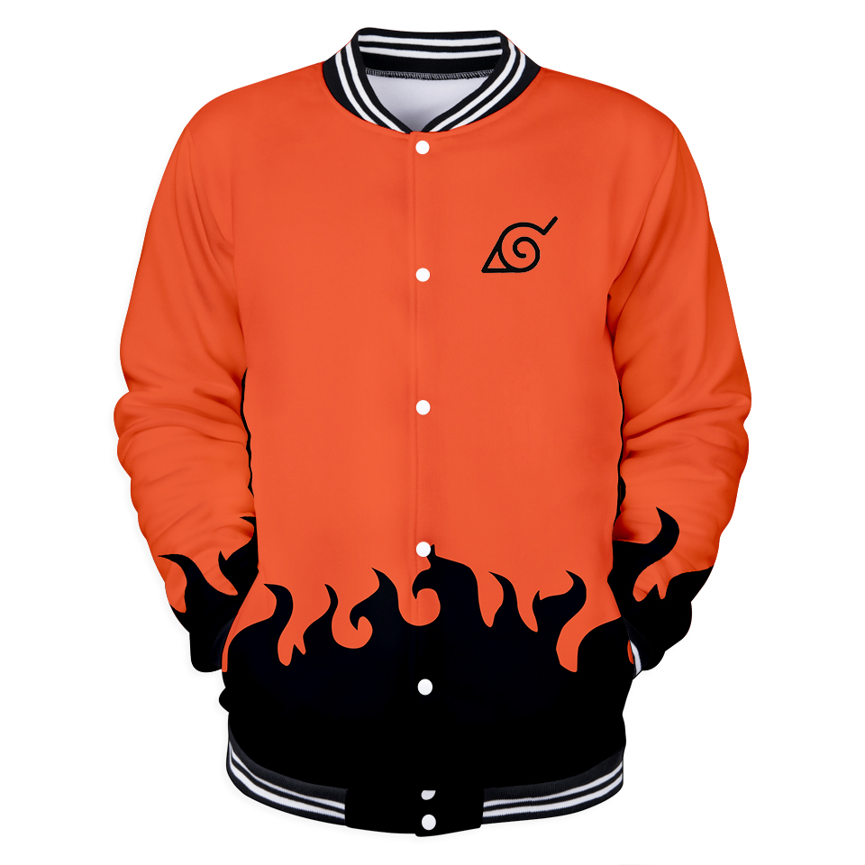 Hot Sale 3D Naruto Casual Long Sleeve Baseball Jacket Men/women Clothes Hip Hop And Cool Print Tops Plus Size 4XL