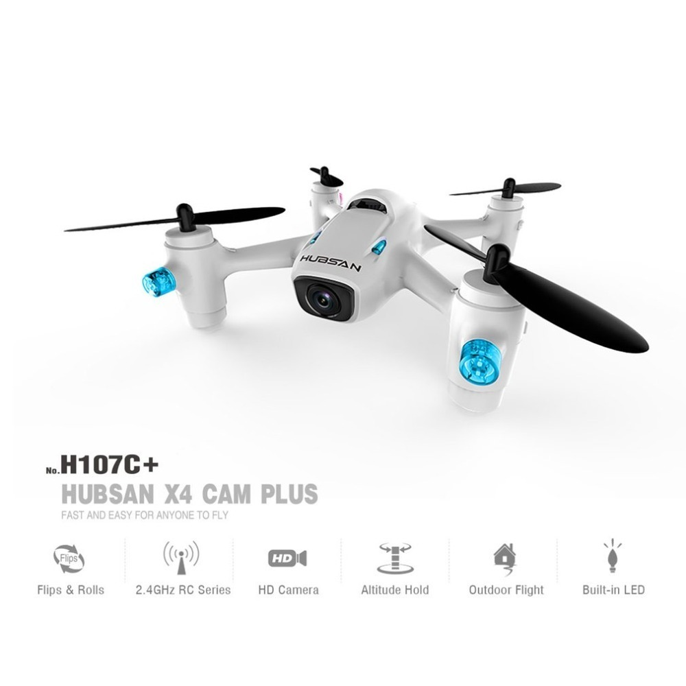 Hubsan H107C+ 2.4GHz 4 Channels Drone Portable Mini RC Quadcopter With 720P HD Camera 6-axis Gyro Flight Control System