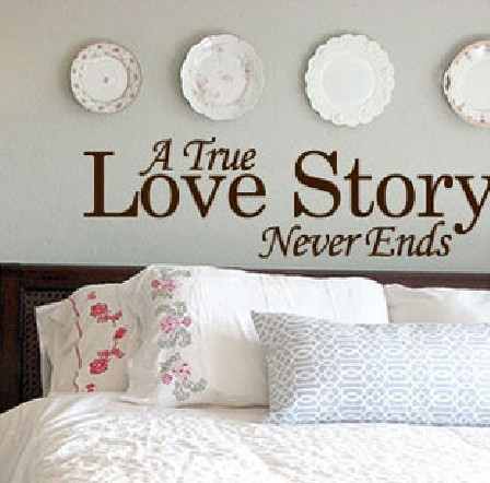 Real Love Stories Home Room Wall Art Vinyl Decor Decal