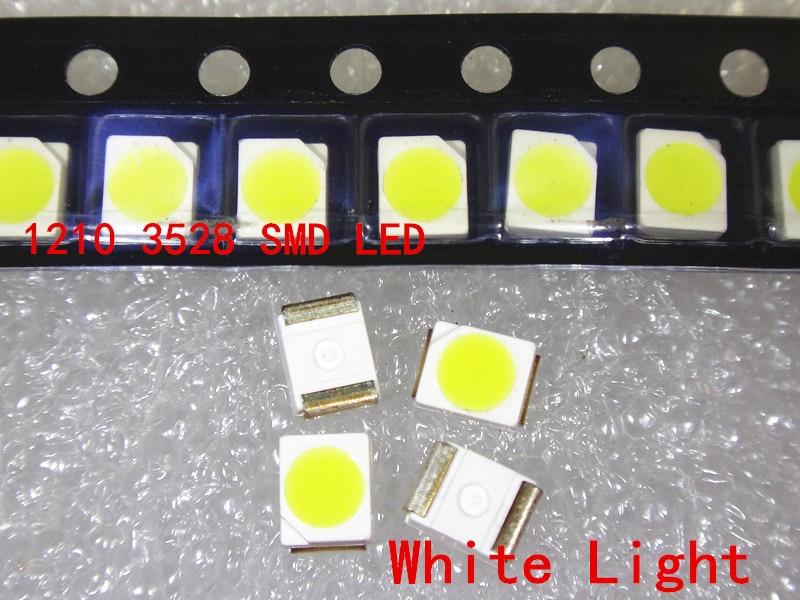 100 шт. 3528 красный зеленый синий белый желтый теплый белый холодный белый супер яркий светильник диод 1210 SMD СВЕТОДИОДНЫЙ