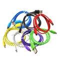 Micro usb cable 2 m/3 m colorido tejer v8 cableado cargador data sync cable de carga para samsung xiaomi android tablet huawei htc