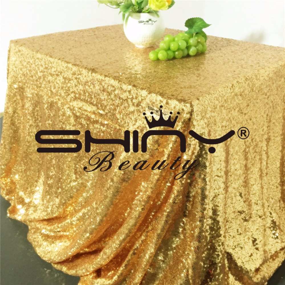 90 156Inch 225 390cm Gold Rose Gold Silver Pink Royal Blue Sequin Tablecloth Rectangle Glitter table cover for Party Wedding in Tablecloths from Home Garden