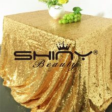 90*156Inch(225*390cm) Gold/Rose Gold/Silver/Pink/Royal Blue Sequin Tablecloth Rectangle Glitter table cover for Party/Wedding/(China)