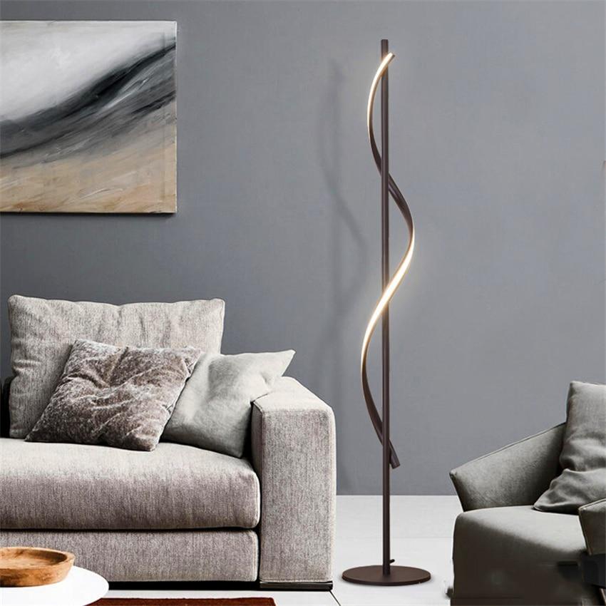 JAXLONG Modern LED Floor Lamp Living Rooms Standing Lamp Pole Floor Light Rooms Standing Light Bedrooms Office Dimmable Lighting-in Floor Lamps from Lights & Lighting