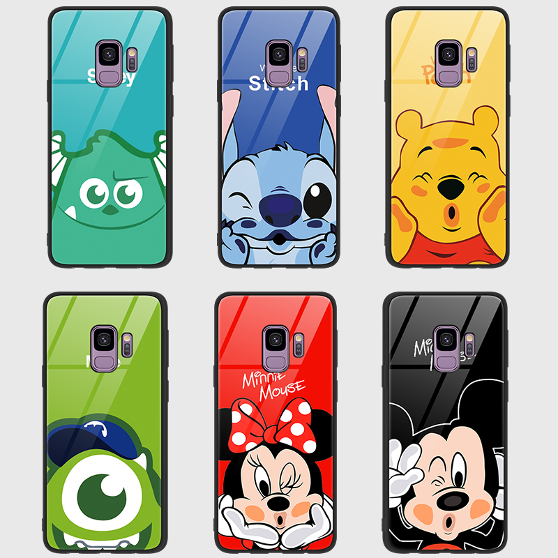 1836c862b34 Luxury Case For Samsung Galaxy S8 S9 Plus Note8 Note9 Minnie Mickey Mouse  phone case