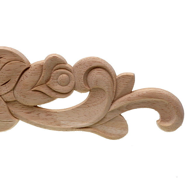Rose Carved Wooden Ornament
