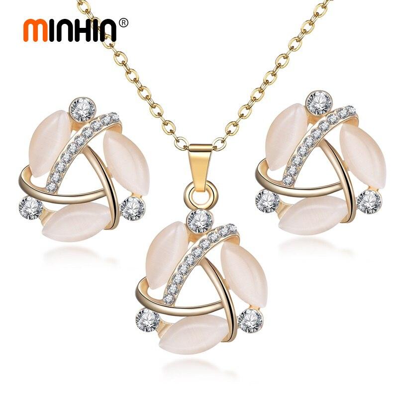 MINHIN Gold Jewelry Sets...
