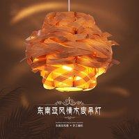 Китайский Стиль деревянный, подвесной светильник дерево лампа птичьего гнезда подвесной светильник
