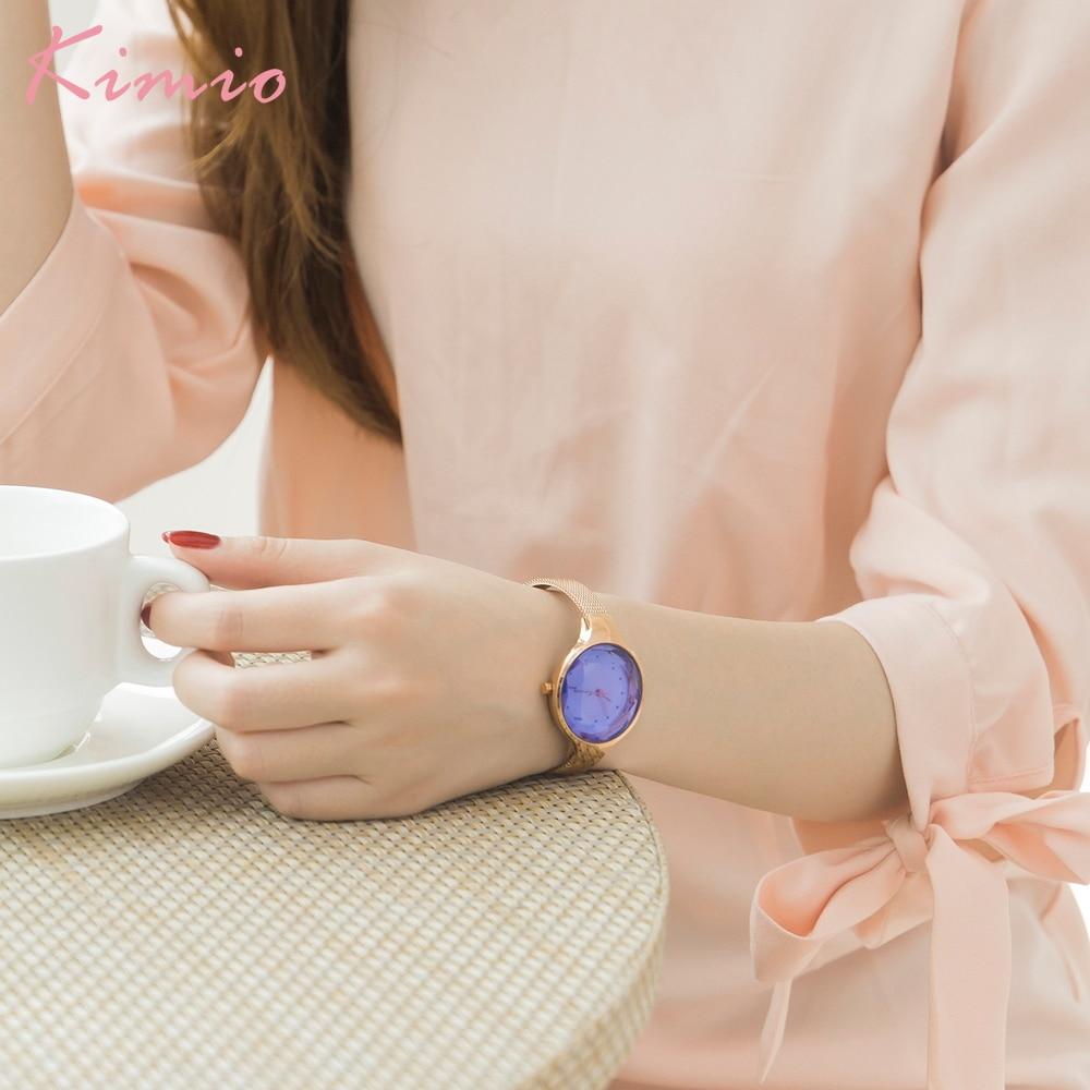Kimio Simple Fashion Armband Dames Horloges Roestvrij Staal Mesh Riem - Dameshorloges - Foto 4